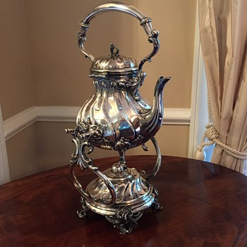 Sterling Silver Vintage German Samovar