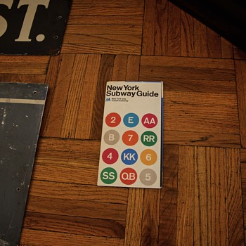 1972 Massimo Vignelli New York Subway Map  - Visual Art