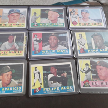 1960 Topps Baseball Cards Hall Of Fame Lot