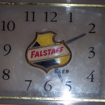 FALSTAFF BEER CLOCK 1960'S ? - Breweriana