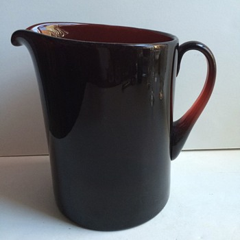 Steuben Selenium Red Pitcher? - Art Glass
