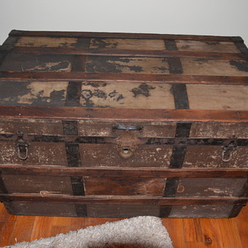 Old Trunk with Macy's Stamp - Furniture