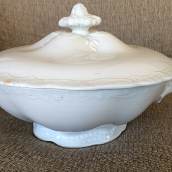 Johnson Bros White Tureen 1902 - China and Dinnerware