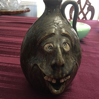 Quirky face jug