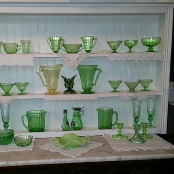My Glowing Green Depression Glassware - Glassware