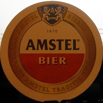 Dutch Amstel bier coaster