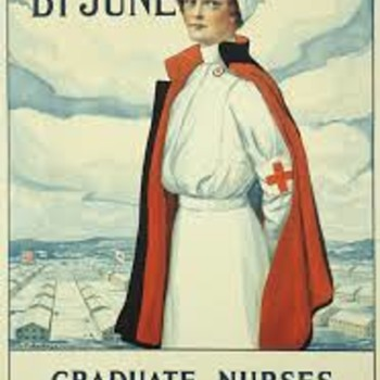 WWI  NURSE PROMO FLYER 1917 - Military and Wartime