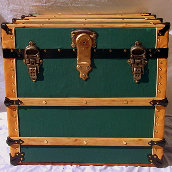 Restored Antique Hat Trunk