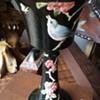 Weller Vase Black with Blue Birds