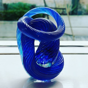 Gerry Reilly Blue twisted Sculpture