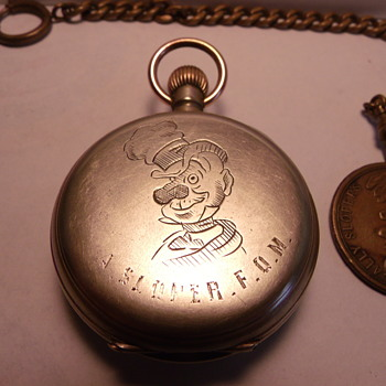 "Circa 1880's  ""Ally Sloper"", F.O.M. (Friend of Man) Pocket Watch - Pocket Watches"