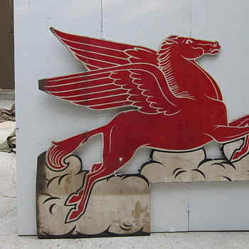 wooden early Pegasus double sided