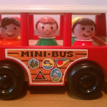 "1969 Fisher Price ""Mini Bus"" FP-141 - Toys"