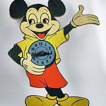 Vintage Mickey Clock - Clocks