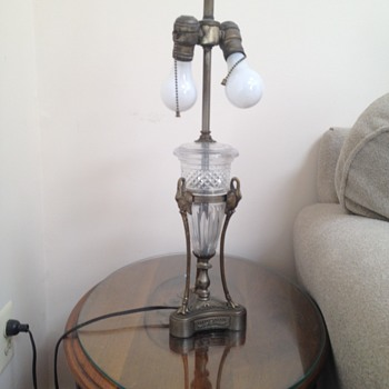 Granny's vintage lamp - I hope someone can tell be about.