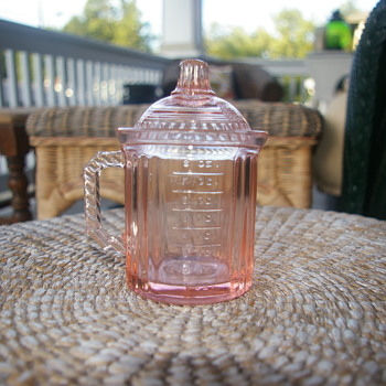 Possible depression glass - pink - Glassware