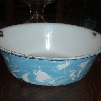 Enamelware/Graniteware Wash Basin - Kitchen
