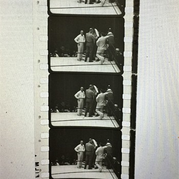 VINTAGE 35mm Film strip Boxer Tommy Loughran unknow what year or who he was fighting !!