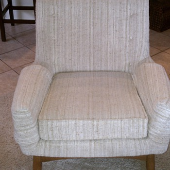 Mid Century Upholstered lounge chair - low back with removeable cover - Mid-Century Modern