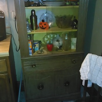 my great aunts antique China cabinet