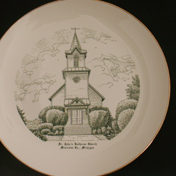 Church Plate, Montcalm Co., Michigan - China and Dinnerware