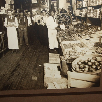 Photograph of Grocery Store in Washington D.C.   c. 1900 - Photographs