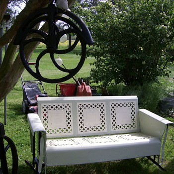 Old Metal Glider - Furniture