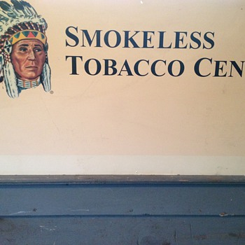 Smokeless tobacco Center Sign