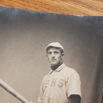 rare postcard of a baseball player from 1906
