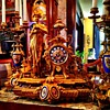 Antique French Figural Clock and Candelabra