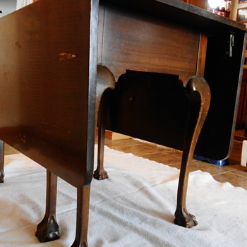 Recently Acquired a Drop Leaf Table with 6 Claw and Ball Legs - Furniture