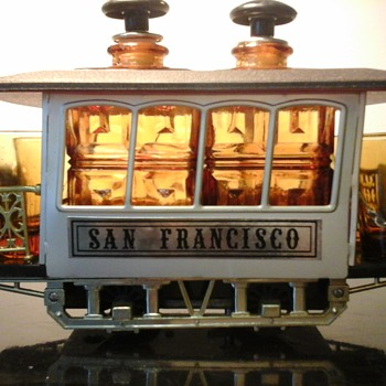Trolley Car Musical Decanter