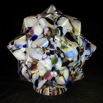 Czech end of day star shade 3 - Art Glass