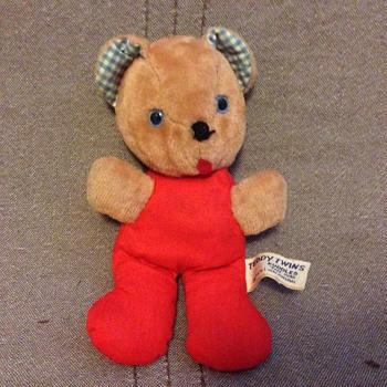 Vintage 1950s Knickerbocker Teddy Bear - Dolls