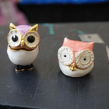Owls Trinket Boxes - Costume Jewelry