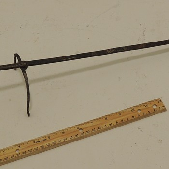 Early American Two-TIned, Single Footed Toasting Fork - 1700-1800