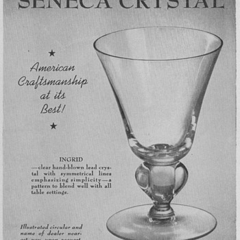 1950 Seneca Glass Advertisements
