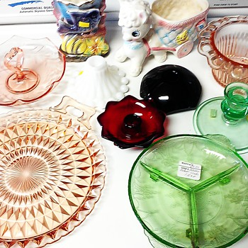 "Went ""junkin'"" today and scored! - Glassware"