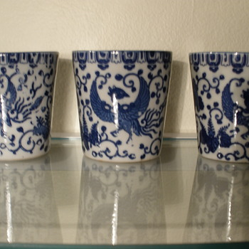 Blue Pheonix/Turkey ware cups