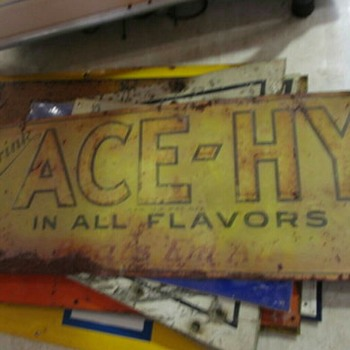 ACE-HY soda sign