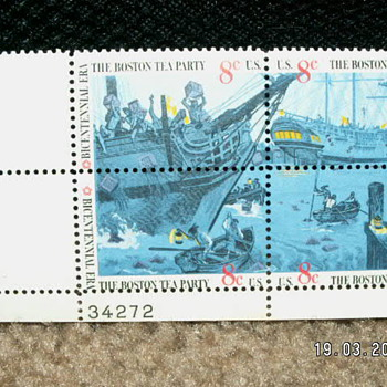 1973 Boston Tea Party Bicentennial Era 8¢