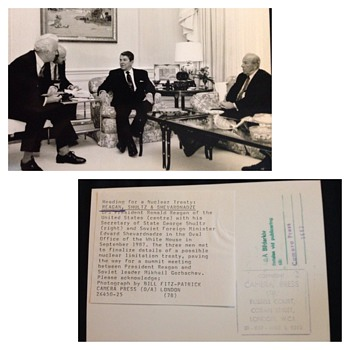 Reagan, Shultz & Shevardnadze - nuclear limitation treaty