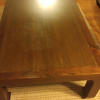 Very large coffee table would like to know the maker/history. - Furniture