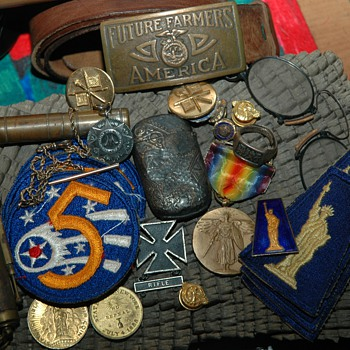 Some small finds for Today - Military and Wartime