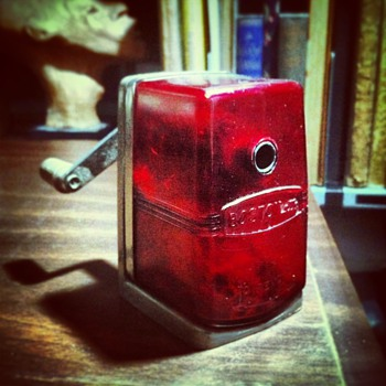 My transluscent red Boston pencil sharpener - Tools and Hardware