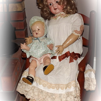 Armand Marseille and unknown composition baby doll... - Dolls