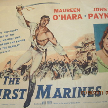 The First Marines Movie Poster 1950 - Posters and Prints