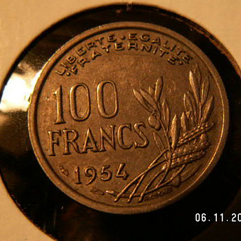 1954 France 100 Francs - World Coins