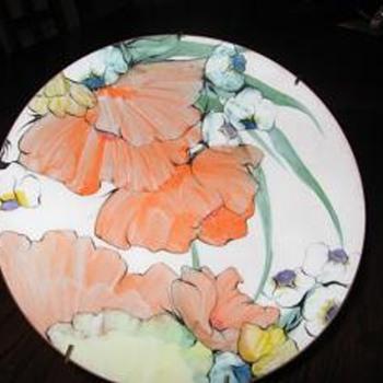 Bachrach enamel Art Plate
