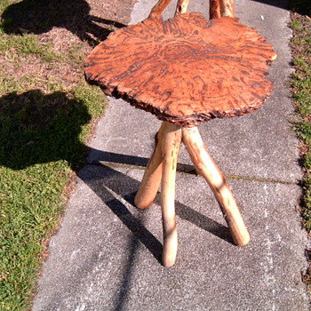 small rustic table